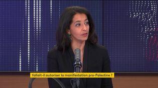 Karima Delli, députée européenne EELV, tête de liste pour les Régionales en Hauts-de-France sur franceinfo le 16 mai 2021. (FRANCEINFO / RADIO FRANCE)