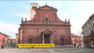 L'église de Codogno, en Italie (FRANCEINFO)