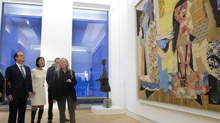François Hollande inaugure le musée Picasso à Paris, le 25/10/2014  (JACQUES BRINON / POOL / AFP)
