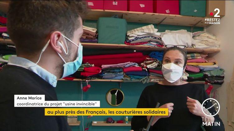 Anne Morice, coordinatrice du projet Usine invisible dans le Morbihan (France 2)