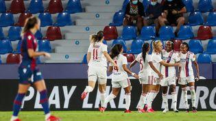 Après leur victoire en match aller des barrages (1-2) où Melvine Malard s'est illustrée, les Lyonnaises chercheront à maintenir leur avance. (IVAN TERRON / SPAIN DPPI)