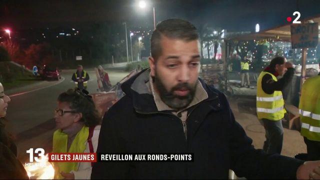 """Alpes-Maritime : des """"gilets jaunes"""" réveillonne aux ronds-points"""
