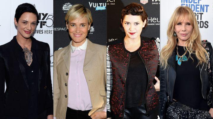 Les actrices Asia Argento, Judith Godrèche, Emma de Caunes etRosanna Arquette accusent le producteur hollywoodien Harvey Weinstein de harcèlement, de viol et d'agression sexuelle. (AFP)