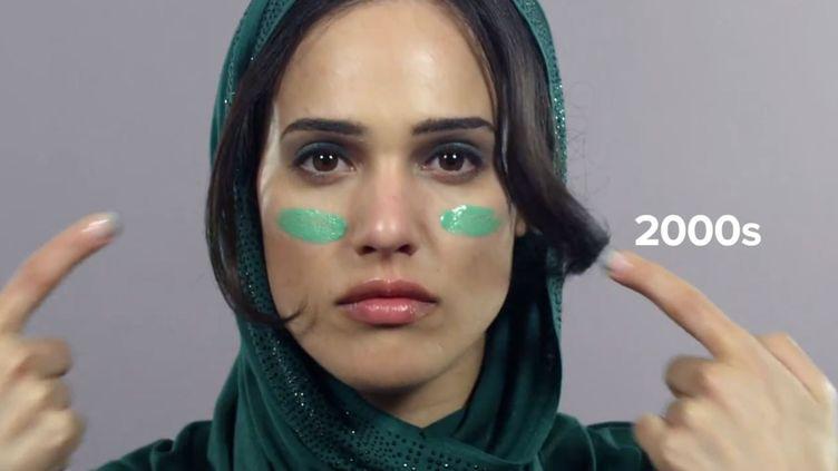 Capture d'écran d'une vidéo retraçant l'évolution des standards de beauté en Iran depuis 1910, le 19 février 2015. (CUT VIDEO / YOUTUBE)