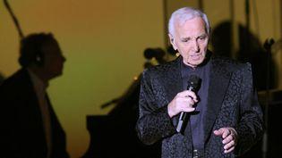 Charles Aznavour à Los Angeles (13 septembre 2014)  (David McNew / AFP)