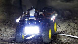 L'un des petits assistants robotisés des archéologues qui ont permis la découverte de la sépulture  (HO / PERUVIAN MINISTRY OF CULTURE / AFP)