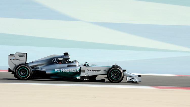 Nico Rosberg (Mercedes) à Bahreïn (MOHAMMED AL-SHAIKH / AFP)