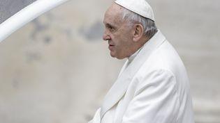 Le pape François, le 4 avril 2018 au Vatican. (GIUSEPPE CICCIA / PACIFIC P / SIPA)
