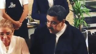 Le président vénézuélien Nicolas Maduro lors d'un repas dans un restaurant stambouliote, lundi 17 septembre 2018. (DR)