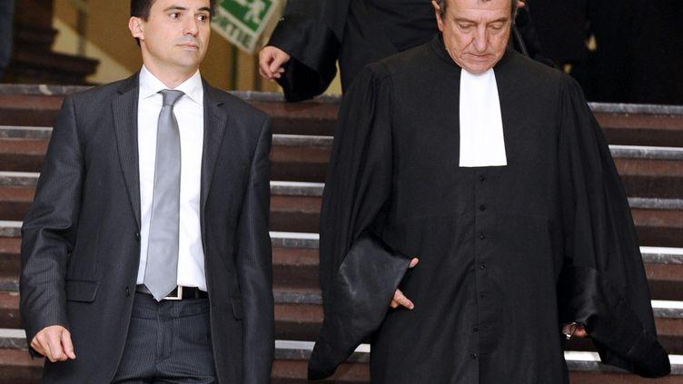 Le procès d'un directeur de prison, jugé pour homicide involontaire après le meurtre d'un détenu par un compagnon de cellule en 2004 à Nancy, s'est ouvert devant le tribunal correctionnel de cette ville, le 13 septembre 2013. (JEAN-CHRISTOPHE VERHAEGEN / AFP)
