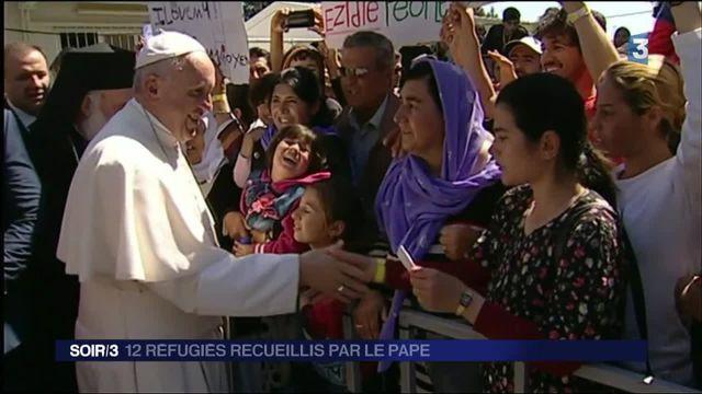 Réfugiés : Le Pape ramène 12 refugiés de Lesbos à Rome