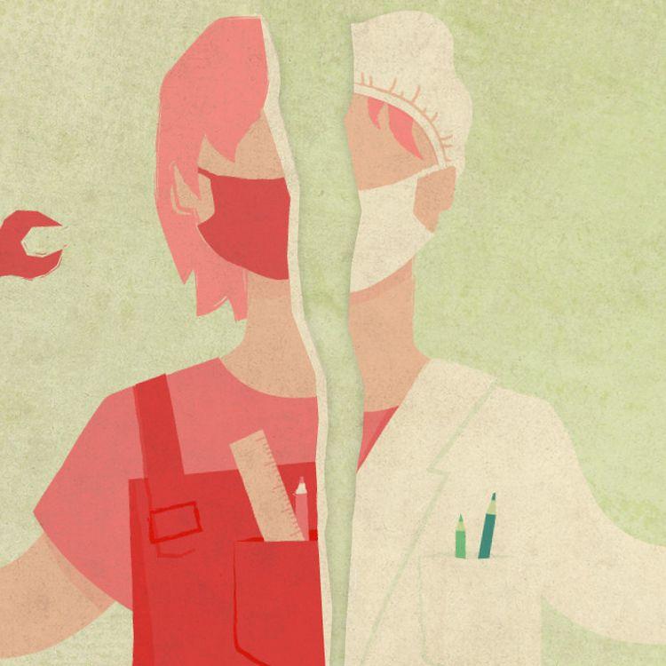 Depuis le début de la pandémie de Covid-19, des salariés et des demandeurs d'emploi ont fait le choix de se reconvertir dans un métier de la santé. (ELLEN LOZON / FRANCEINFO)