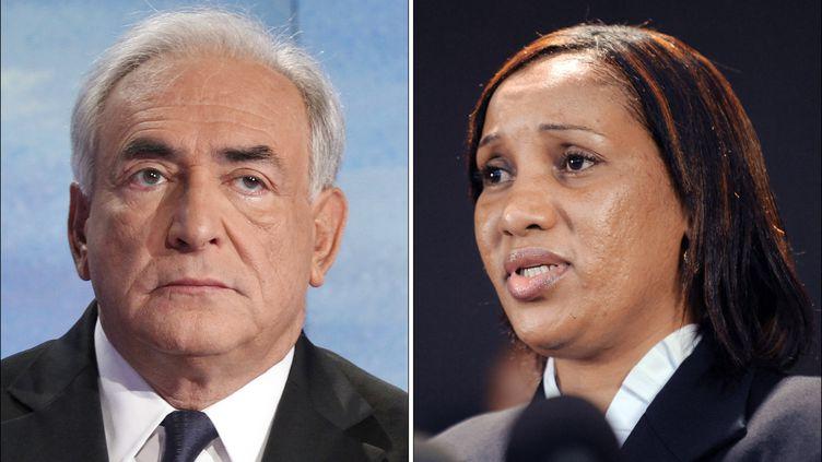 L'ancien directeur général du FMI Dominique Strauss-Kahn et la femme de chambre du Sofitel de New YorkNafissatou Diallo, qui l'accuse de viol. (FRANCOIS GUILLOT / AFP)
