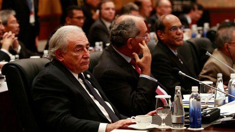 Dominique Strauss-Kahn à la réunion des ministres des Finances du G20  Gyeongju (Corée du Sud), le 22 octobre 2010 (AFP-Getty / Chung Sung-Jun)