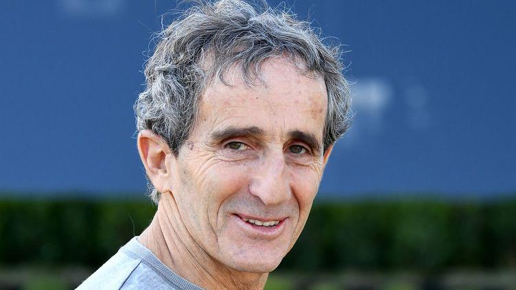 Alain Prost le 22 mars 2018, sur le circuit d'Albert Park, en banlieue de Melbourne en Australie. (MAXPPP)