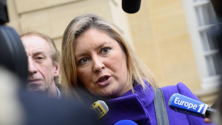 Carole Couvert, la présidente de la CFE-CGC, le 27 janvier 2014 à Paris. (BERTRAND GUAY / AFP)