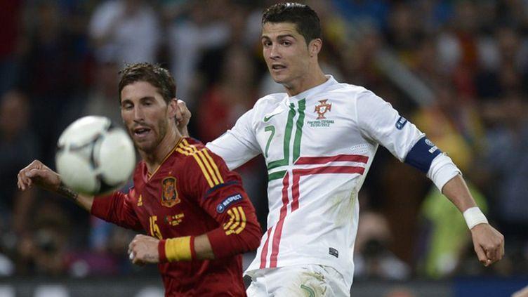 Cristiano Ronaldo et Sergio Ramos, coéquipiers du Real Madrid face à face à l'Euro