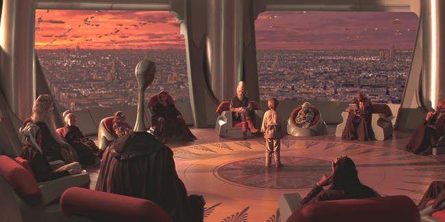 """Le Conseil des Jedi dans """"Star Wars Episode 1 : La Menace fantôme"""" de George Lucas. (TWENTIETH CENTURY FOX FRANCE)"""