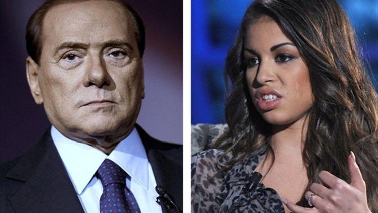 """Montage de l'AFP montrant S.Berlusconi et """"Ruby"""" (AFP)"""