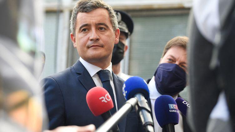 Gérald Darmanin, le ministre de l'Intérieur, le 24 mai 2021. (NICOLAS TUCAT / AFP)