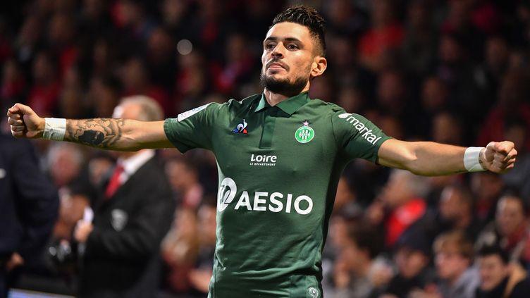 Rémy Cabella buteur avec les Verts à Nîmes (PASCAL GUYOT / AFP)