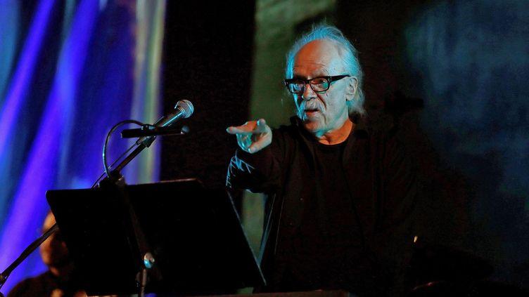 Le réalisateur et compositeur américain John Carpenter en concert salle Playel à Paris en 2018 (SUSANNA SAEZ / EFE)