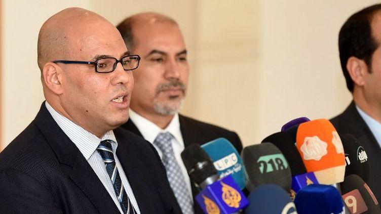 Le vice-Premier ministre libyen Fathi el- Mejbri à Tunis le 17 juillet 2016 (FETHI BELAID / AFP)