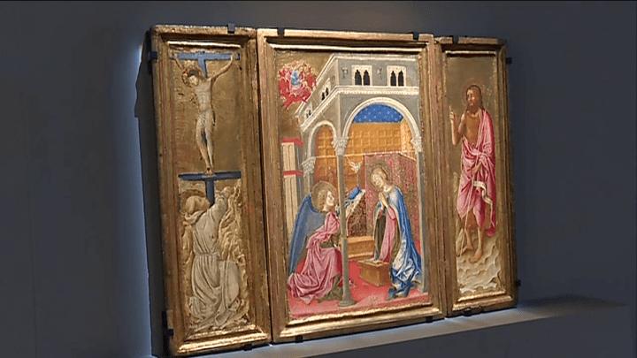 Triptique de Giovanni di Tommasino Crivelli enfin reconstitué  (France 3/Culturebox / capture d'écran)