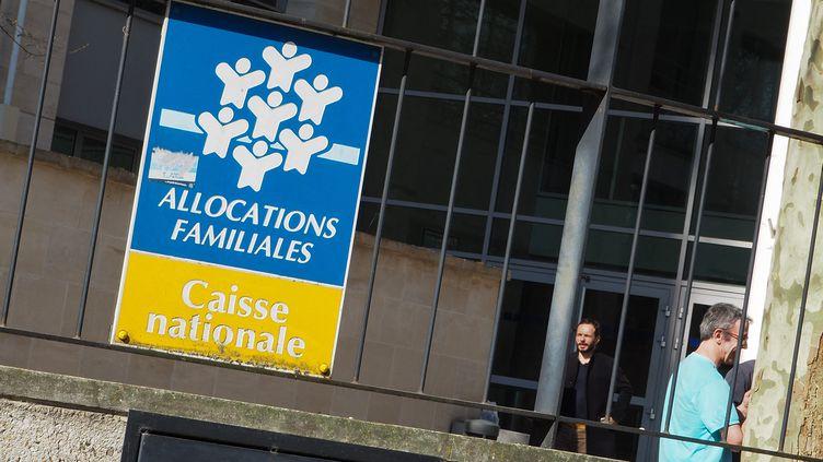 UneCaisse d'allocations familiales à Paris, le 27 février 2019. (RICCARDO MILANI / HANS LUCAS / AFP)