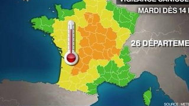 Canicule : 26 départements en alerte orange