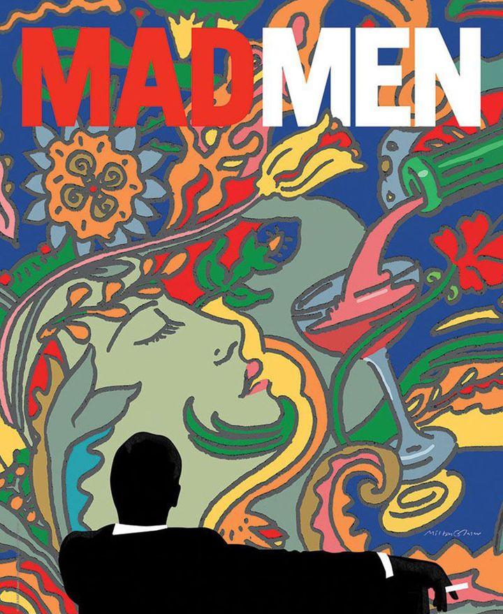 """L'affiche de la dernière saison (la 7e) de la série à succès """"Mad Men"""" (sur AMC) était signée Milton Glaser. (MILTON GLASER / AMC)"""