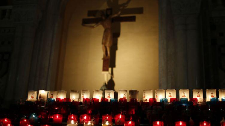 (Illustration) BasiliqueSainte-Thérèse de Lisieux, le 3 décembre 2018. (CHARLY TRIBALLEAU / AFP)