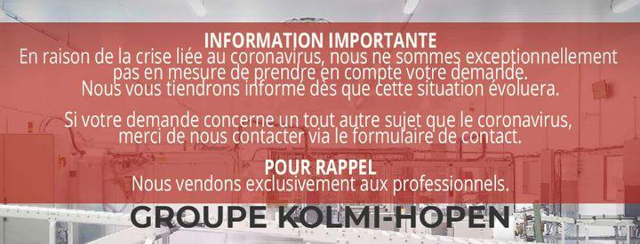 L'entreprise Kolmi-Hopen consacre désormais l'intégralité de son activité à la production de masques. (KOLMI-HOPEN)