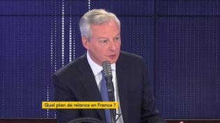"""Bruno Le Maire, ministre de l'Economie, était l'invité du """"8h30 franceinfo"""" le mardi 21 juillet 2020. (FRANCEINFO / RADIOFRANCE)"""