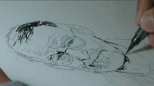 """Ebauche du premier tome de la collection """"Autopsie d'un serial killer"""", de Jean-David Morvan, consacré à Michel Fourniret  (France 3)"""