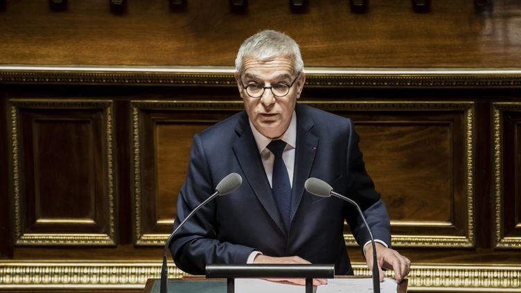 Hervé Maurey le 5 mai 2018 au Sénat. (VINCENT ISORE / MAXPPP)