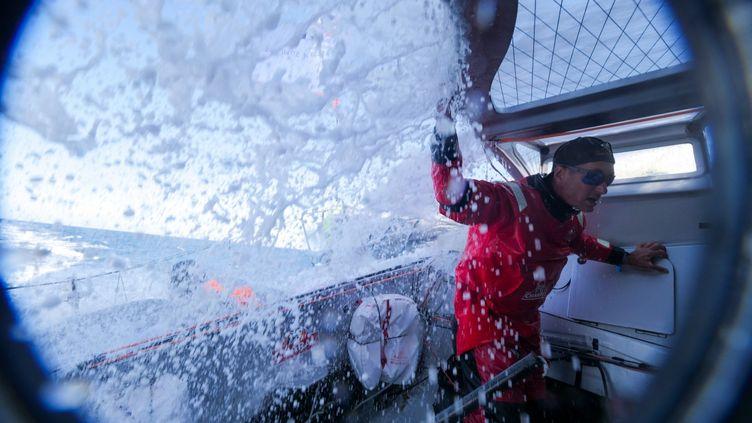 Arrivé troisième en 2017,le skipper francais est favori cette année pour le Vendée-Globe, qui s'élance dimanche.   (Gauthier Lebec / Charal Sailing Team)