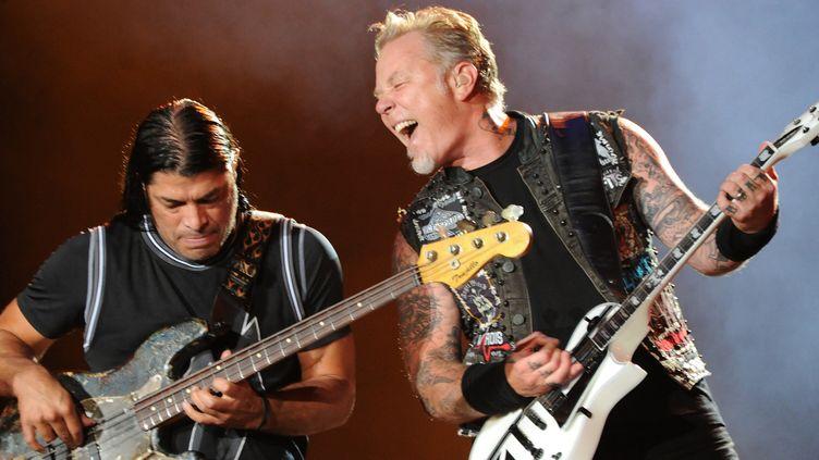 Metallica, le 19 septembre 2015, pendant le festival Rock in Rio (Brésil).  (TASSO MARCELO/AFP)