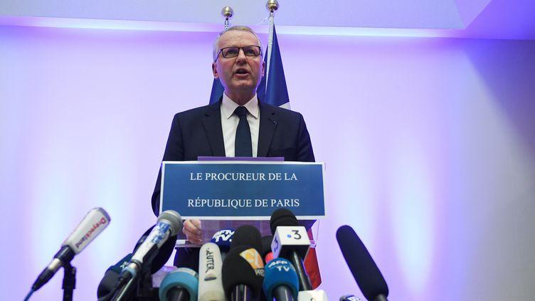 Le procureur de la République de la Paris, Rémy Heitz, lors d'une conférence de presse organisée le vendredi 14 décembre 2018, au lendemain de la mort de Cherif Chekaat. (PATRICK HERTZOG / AFP)