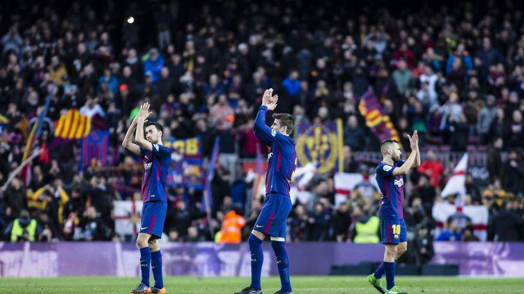 Les joueurs de Barcelone au Nou Camp (XAVIER BONILLA / NURPHOTO)