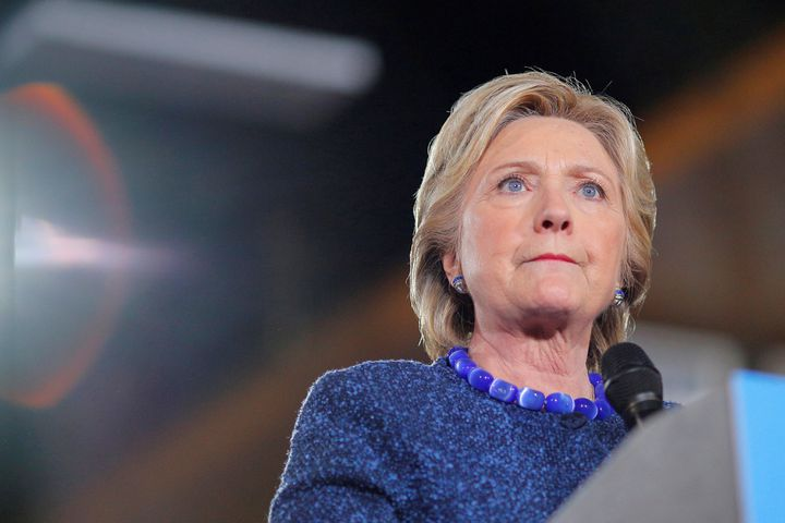 Hillary Clinton, vendredi 28 octobre, à Des Moines (Iowa). (BRIAN SNYDER / REUTERS)