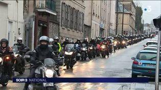 Des motards ont manifesté dans plusieurs villes de France. (FRANCE 3)