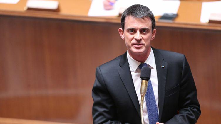 (Le Premier ministre, Manuel Valls © MaxPPP)