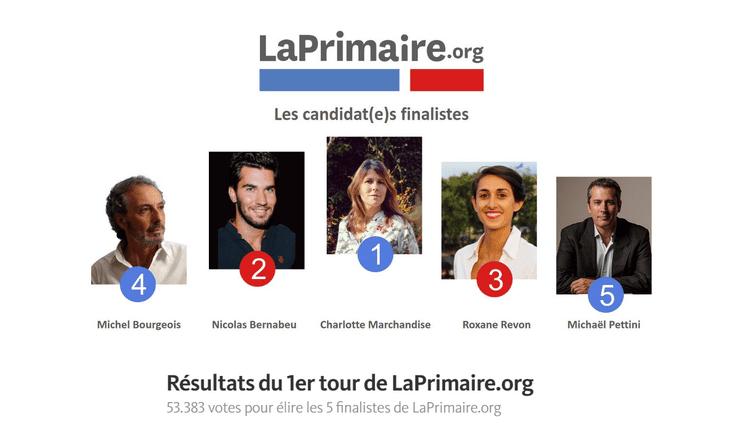 Candidats finalistes à LaPrimaire.org (Capture Ecran LaPrimaire.org)