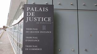 L'entrée du palais de justice de Pontoise (Val-d'Oise), le 13 février 2018. (FRANCOIS MORI/AP/SIPA)