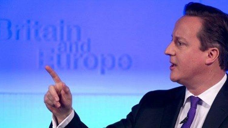 David Cameron, lors du discours sur l'Europe, le 23 janvier 2013. (AFP)