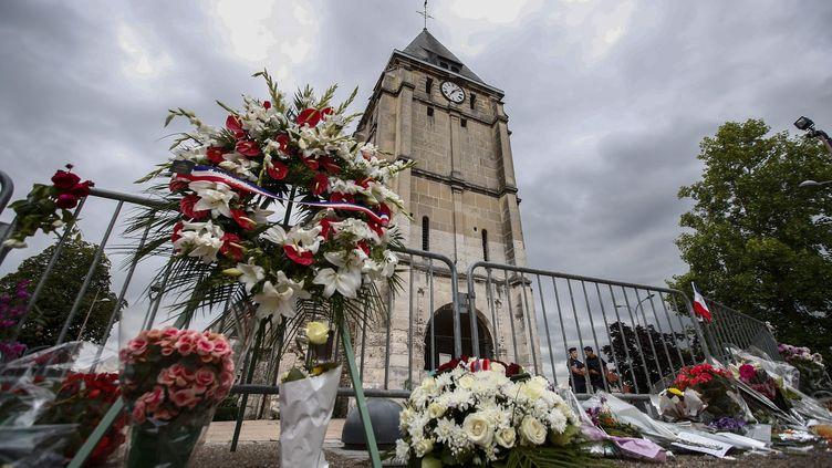 L'église de Saint-Etienne-du-Rouvray (Seine-Maritime) visé par un attentat terroriste, le 27 juillet 2016. (MAXPPP)