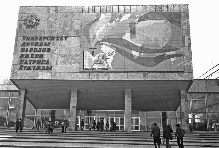 Un des bâtiments de l'université Patrice Lumumba à Moscou. (VALERIY SHUSTOV / SPUTNIK)