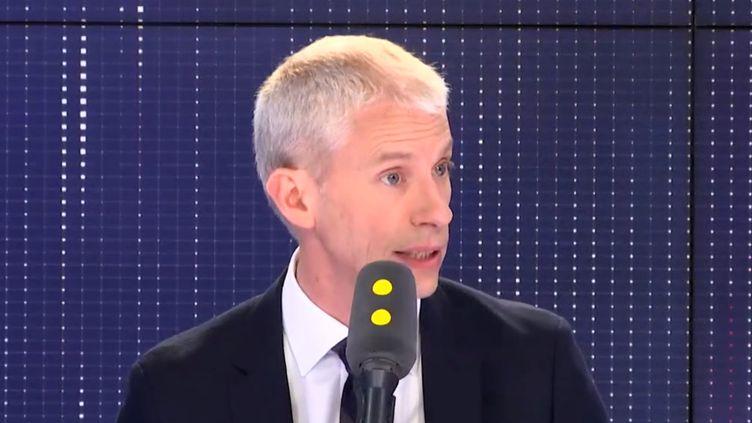 Franck Riester, ministre de la Culture, invité sur franceinfo vendredi. (FRANCEINFO)