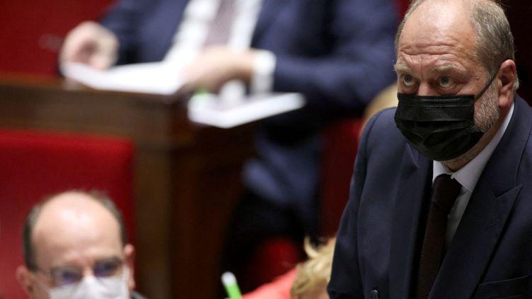 Eric Dupond-Moretti, le ministre de la Justice, à l'Assemblée nationale, le 18 mai 2021. (THOMAS COEX / AFP)